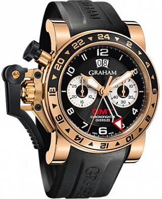 Graham Chronofighter Oversize GMT Gold 2OVGR.B21A.K10B Replica watch
