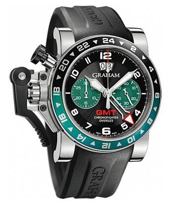 Graham Chronofighter Oversize GMT BRG Steel 2OVGS.B12A.K10B Replica watch