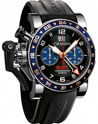 Replica Graham Chronofighter Oversize GMT 2OVGS.B26A Blue Steel watch