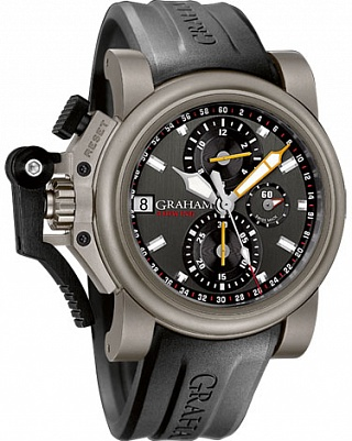 Fake Graham Chronofighter Oversize 2OVKT.T01A Titanium Airwing Gun Metal watch