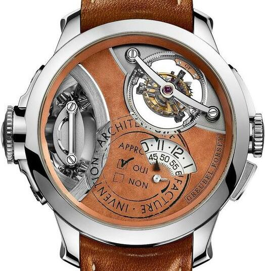 Replica Greubel Forsey Art Piece 2 White Gold Brown Dial watch
