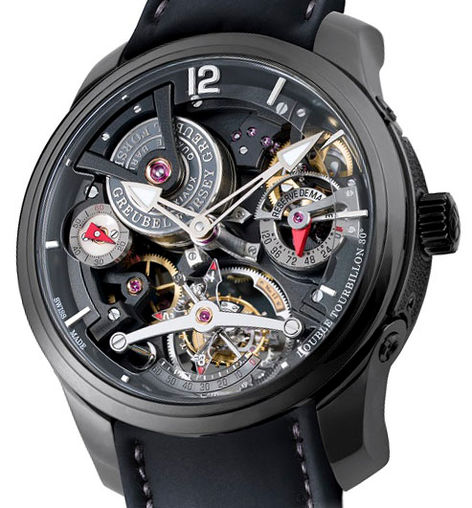 Greubel Forsey GF02s Black Double Tourbillon Technique 30 ° watch replica