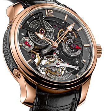 Replica Greubel Forsey GF02s Or5N Bi-colou Double Tourbillon Technique 30 ° Bi-color watch