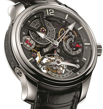 Greubel Forsey GF02s Platine Bi-color Double Tourbillon Technique 30 ° Bi-color watch replica