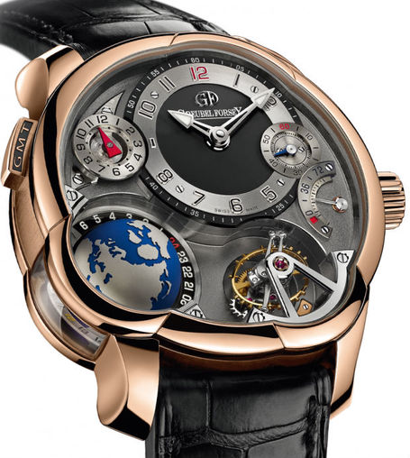 Greubel Forsey GMT 5N red gold Anthracite dial replica watch