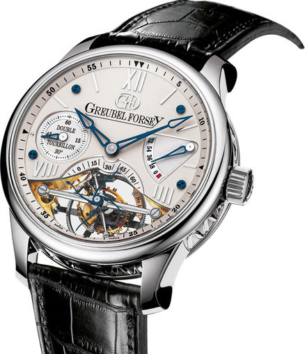 Greubel Forsey Double Tourbillon 30 ° Double Tourbillon Vision WG Silver watch for sale