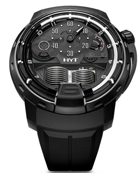 Replica HYT H1 ghost 148-DL-60-NF-RU watch