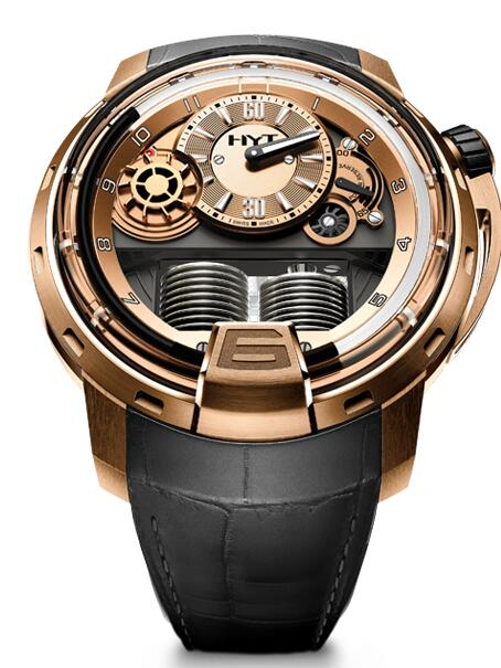 Replica HYT H1 full-gold 148-PG-15-NF-AG watch