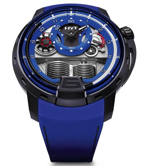 Replica HYT H1 colorblock-blue 148-TT-80-NF-FB watch