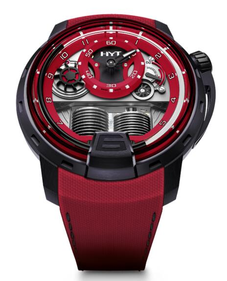 Replica HYT H1 colorblock-red 148-TT-80-NF-FR watch