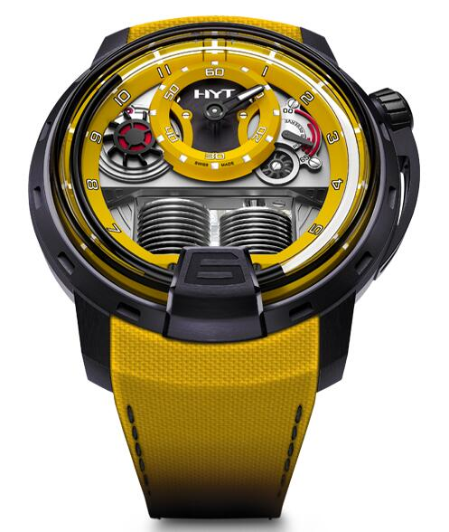 Replica HYT H1 colorblock-yellow 148-TT-80-NF-FY watch
