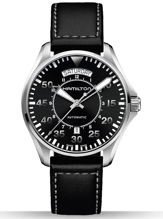 luxury Hamilton Khaki Pilot Day Date H64615735 replica watches