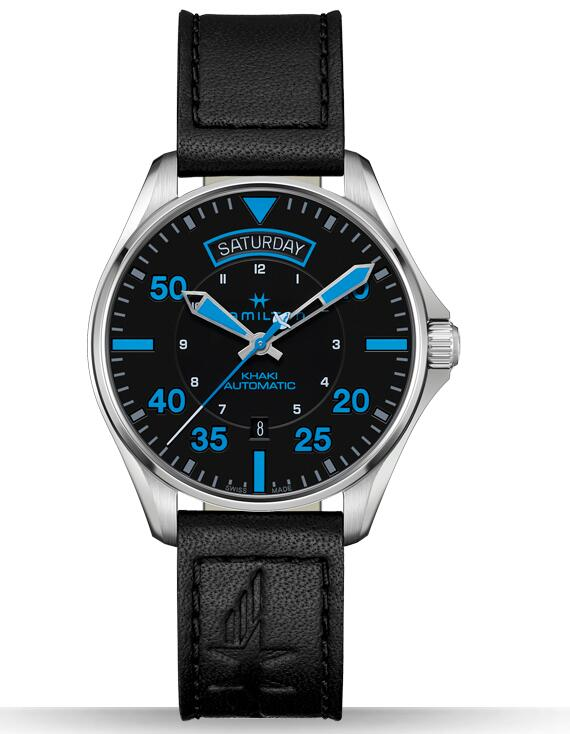 Hamilton Khaki Pilot Air Zermatt Day Date H64625731 mens watch