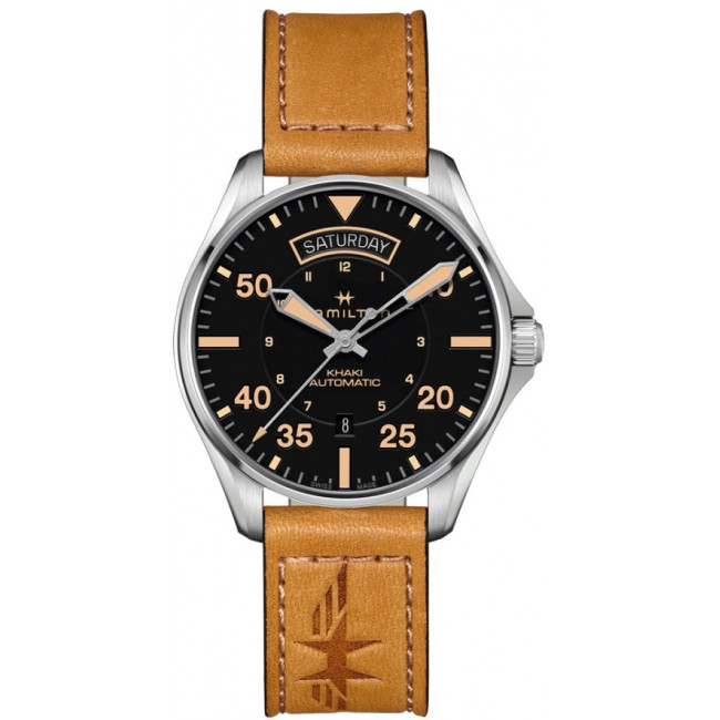 Discount Hamilton Khaki Pilot Day Date H64645531 watch