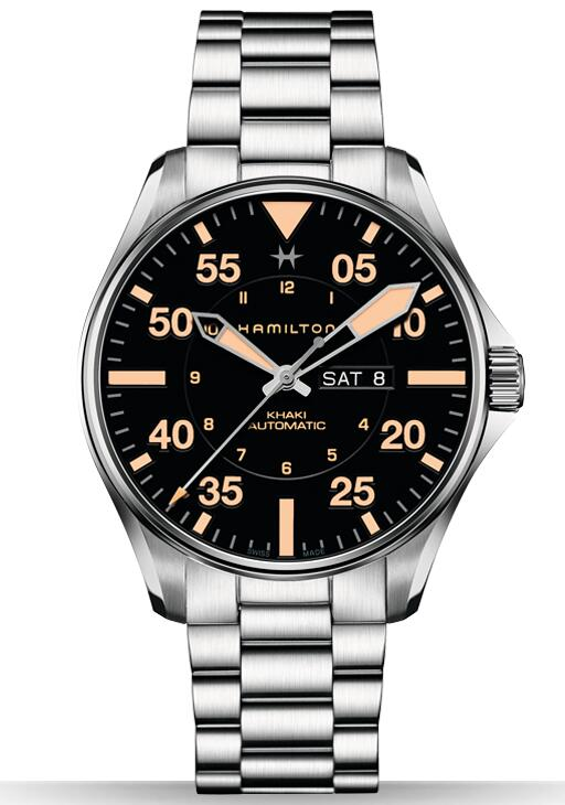 cheap swiss Hamilton Khaki Pilot Day Date watch H64725131