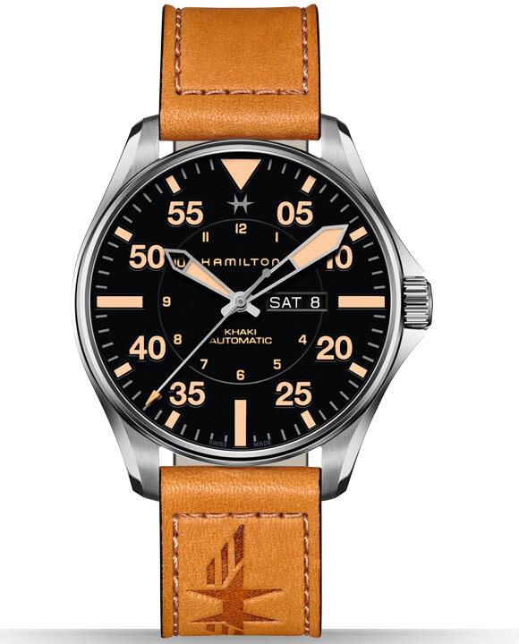 luxury Hamilton Khaki Pilot Day Date H64725531 fake watches