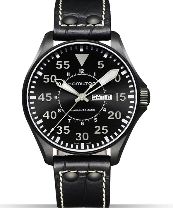 luxury replica Hamilton Aviation Pilot 46mm H64785835 watches