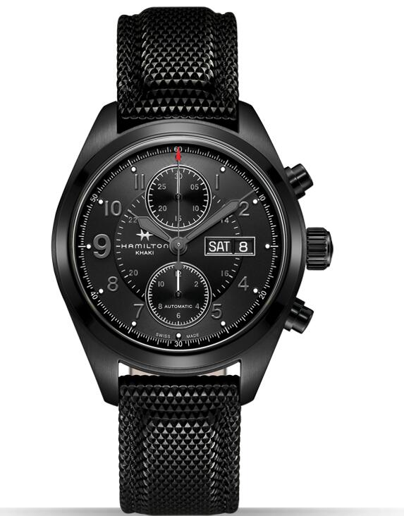 Hamilton Khaki Field Full Black Auto Chrono H71626735 watch