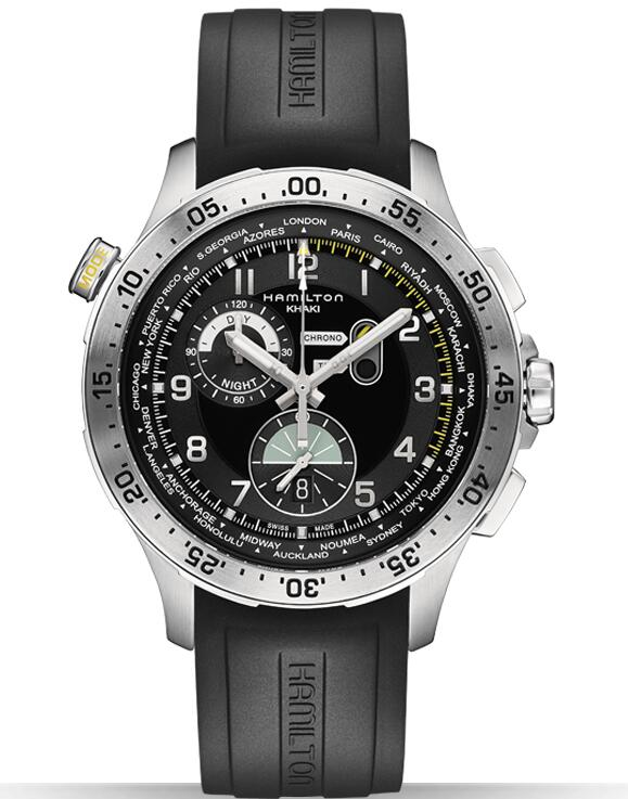 Hamilton Khaki Aviation Chrono Worldtimer H76714335 watch review