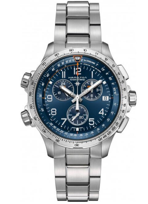swiss luxury Hamilton Khaki X-Wind Chrono GMT H77922141 watches