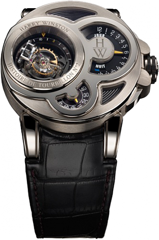 Harry Winston Haute Horology Histoire de Tourbillon 2 500 / MMT48WL.K watch straps
