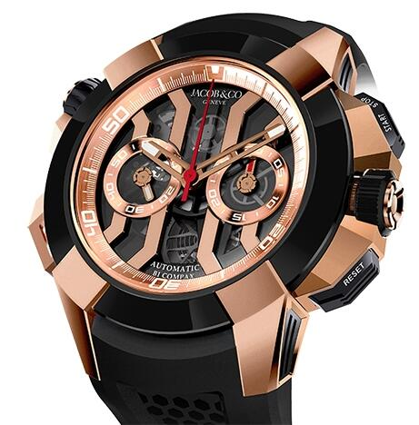 Replica Jacob & Co Epic x Chrono Rose Gold EC311.42.PD.BN watch