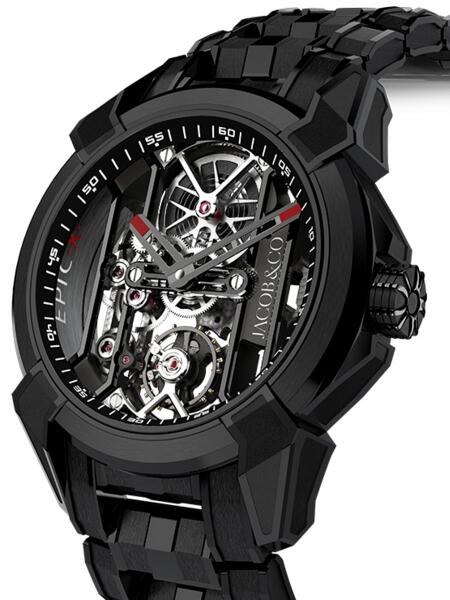 Fake Jacob & Co Epic x Black Titanium EX100.21.PS.BW.A21AA watch