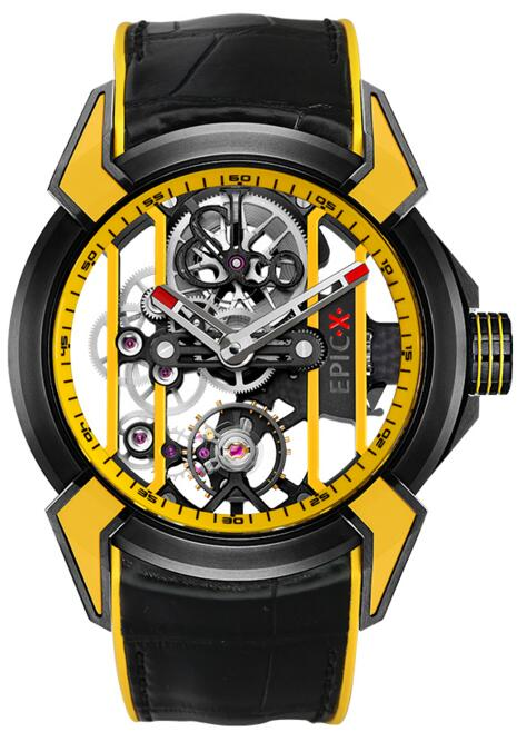 Jacob & Co Replica Epic x RACING yellow EX100.21.YR.YB.A watch
