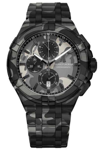 Maurice Lacroix Aikon AI1018-PVB02-336-1 Chronograph Camouflage 44 mm Fake watch Review