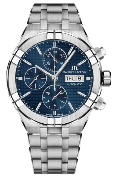 Replica Maurice Lacroix Aikon AI6038-SS002-430-1 Automatic Chronograph 44 mm watch