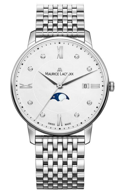 Fake Maurice Lacroix Eliros Moonphase EL1096-SS002-150-1 mens watch