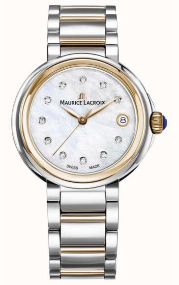 Maurice Lacroix Womens Fiaba FA1007-PVP13-170-1 Mother Of Pearl Dial Two Tone Bracelet fake watches