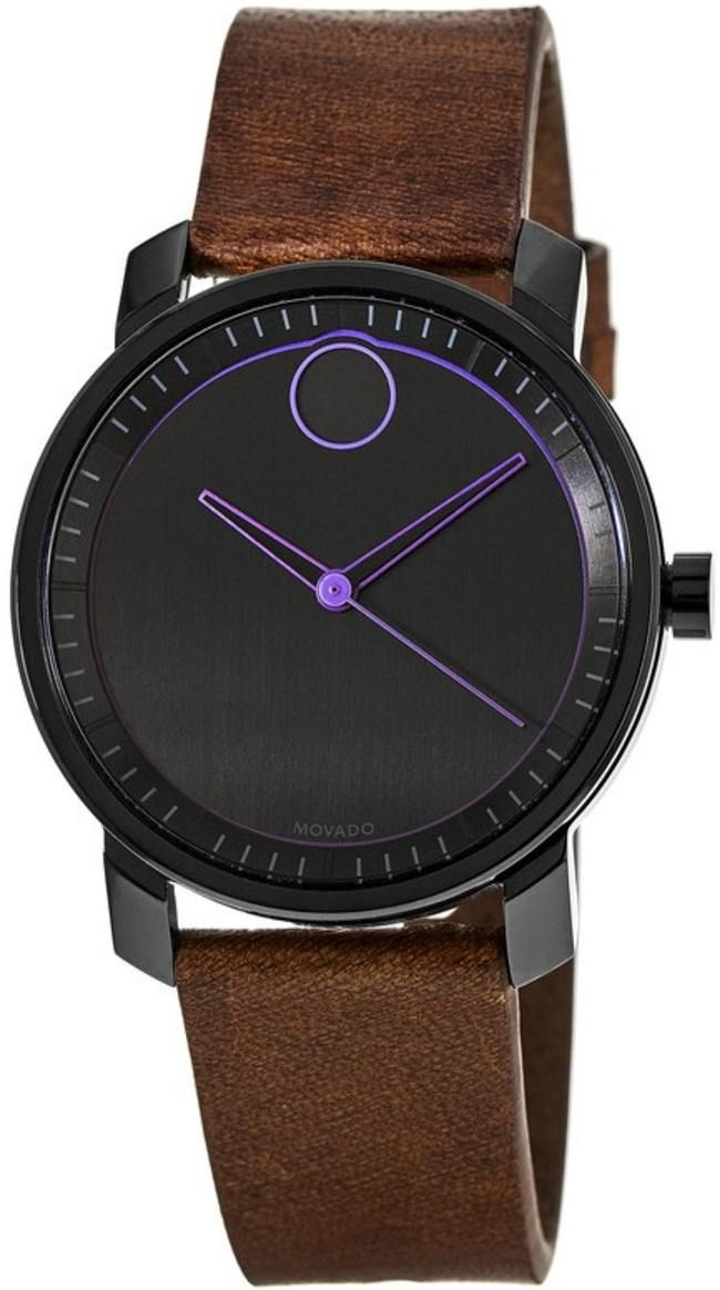 replica Movado Bold Brown Leather Women's Watch 3600488