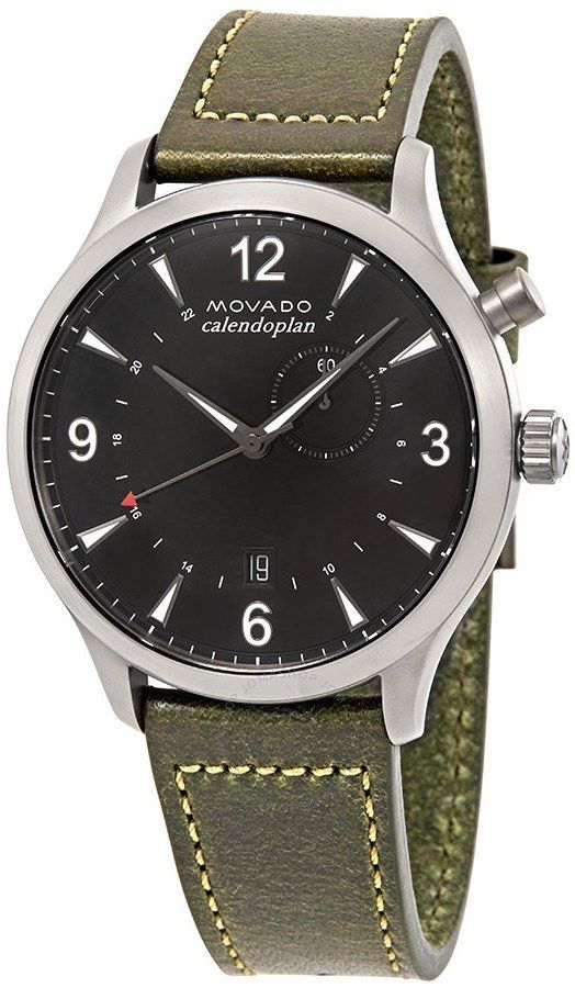 replica Movado Heritage Black Dial Men's Watch 3650019