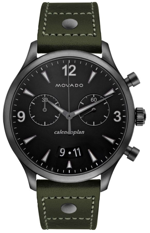 replica Movado Heritage Men's Black Dial Watch 3650029