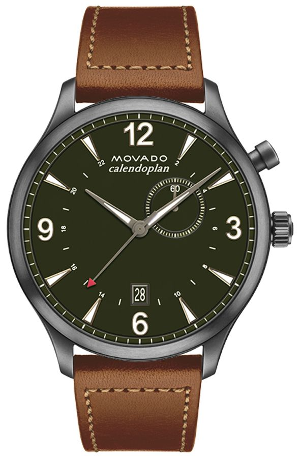buy Movado Heritage Military Green Dial Watch 3650018
