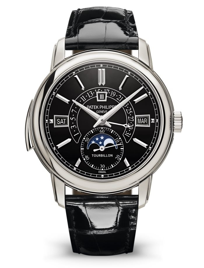 fake Patek Philippe 5316P-001 Grand Complications Perpetual Tourbillon Black Dial watch
