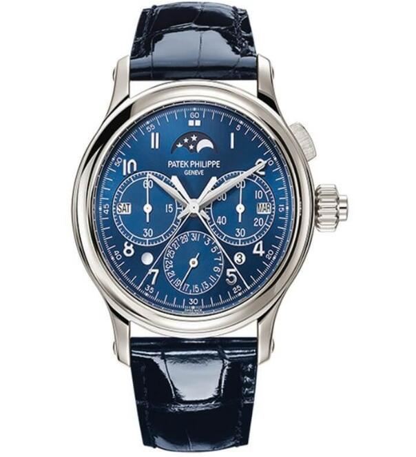 fake Patek Philippe 5372P-001 Grand Complication Platinum Blue dial. watch