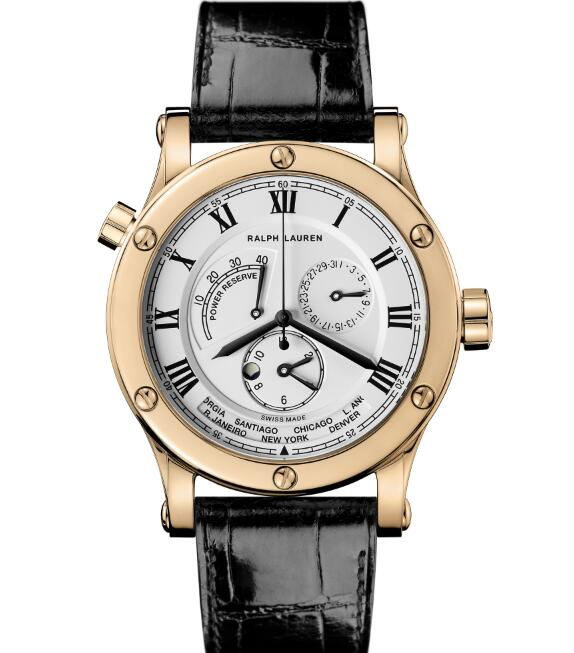 Ralph Lauren 45 MM Sporting World Time Rose Gold RLR0211700 fake watches