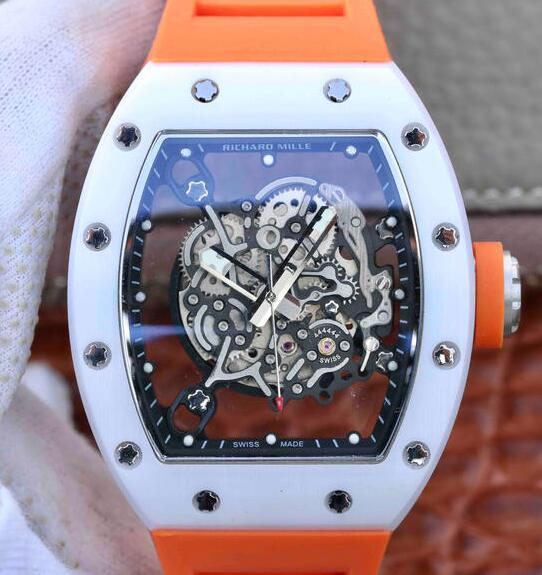 Replica Richard Mille Bubba Watson RM055 ceramic automatic watch Reviews