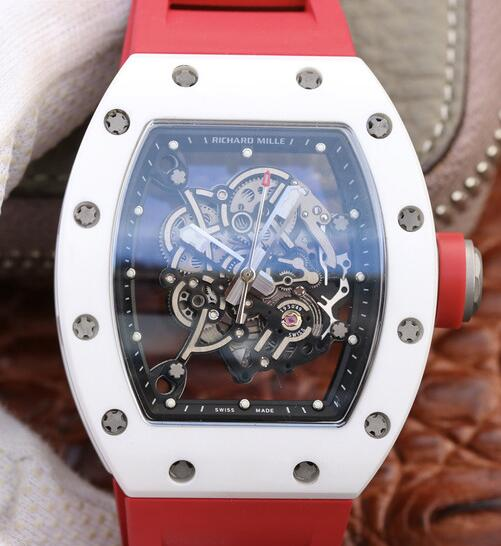 Richard Mille Bubba Watson rm055 ceramic red rubber fake watch sale