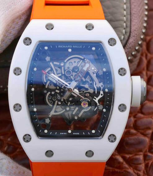 Best Richard Mille Bubba Watson rm055 orange rubber replica watch