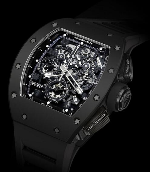 Richard Mille watch Replica RM 011 Flyback Chronograph Black Phantom