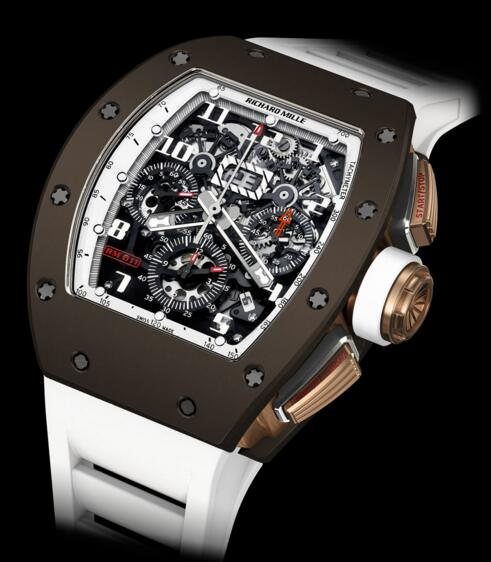 Richard Mille watch Replica RM 011 Flyback Chronograph Brown Ceramic