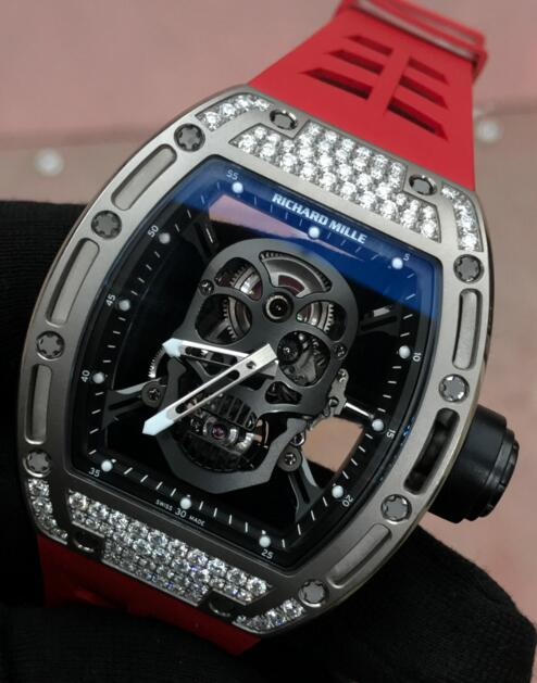 Richard Mille Skull watch Replica RM 052 White gold