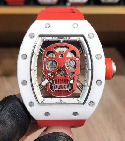 Richard Mille RM052 skull red rubber strap watch price