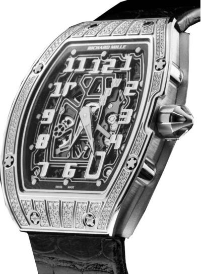 Richard Mille Replica RM 67-01 Extra Flat titanium with diamond Automatic watch