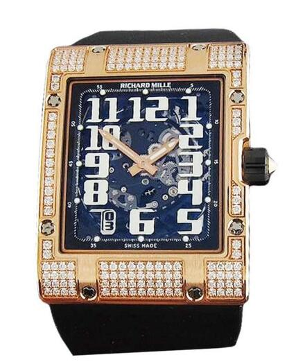 Richard Mille RM016 Diamonds Ultra Flat in Rose Gold replica watch