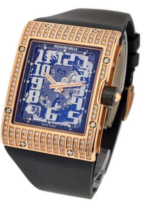 replica Richard Mille RM016 Rose Gold full Diamonds watch