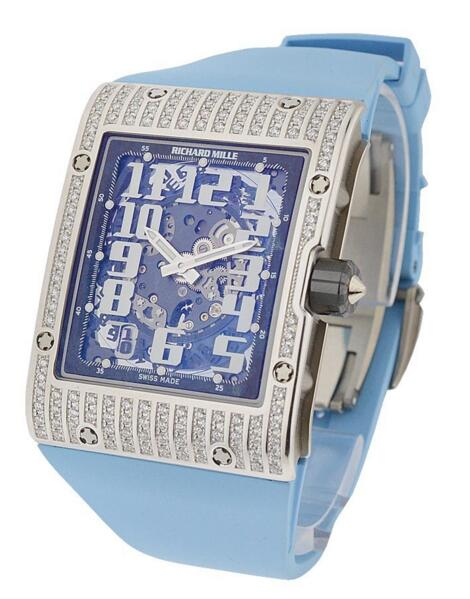 Richard Mille RM 016 White Gold RM016WGFull_blue watch for sale